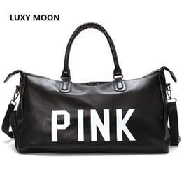 Fashion Girls PU Leather Pink Travel Bags Large Capacity Women Tote Duffle  Bag Luggage Causal Trip Shoulder Weekend Bag d7b66b2479565