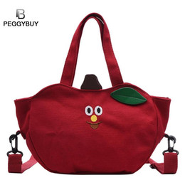 $enCountryForm.capitalKeyWord Australia - Cute Fruit Shaped Printing Shoulder Handbags Women Canvas Crossbody Bags Canvas Handbag Casual Tote Vintage Messenger Bags