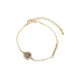 $enCountryForm.capitalKeyWord Australia - Gold-plated glitter lucky bead fine bracelet Fashion glamour woman chain Rich gold Charm Bracelets Adjustable size