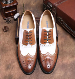 mens dress shoes size 38 NZ - Big size 38-45 Mens Shoes Dress Genuine Leather Oxford Shoes For Men Casual Formal Luxury Wingtip Men Brougues Oxfords Shoes