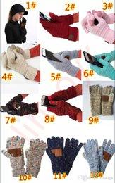 Вязание сенсорный экран перчатки емкостные перчатки женщины зима теплые перчатки противоскользящая трикотажные Telefingers перчатки рождественские подарки TO958