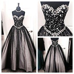 Fantastic evening dresses online shopping - Fantastic Black Evening Dresses A Line Sleeveless Sweetheart Applique Beads Pearls Women Occasion Party Prom Gowns Corset Back BC0742