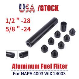 USA STOCK Aluminum Fuel Filter 1X6 Car Solvent Trap 1 2-28 NAPA 4003 WIX 24003 Car Filters Parts RS-OFI017