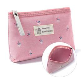 Frauen Make Up Taschen Blume Baumwolle Reißverschluss Kosmetische Fälle Lässig Mädchen Handtasche Dame Pouch Lagerung Artikel Organizer Wasserdicht
