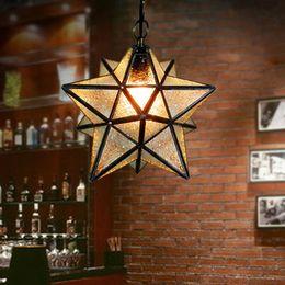 $enCountryForm.capitalKeyWord Australia - Creative star chandelier corridor porch balcony chandelier cafe romantic star chandelier manufacturers direct sale Led lights