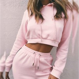 $enCountryForm.capitalKeyWord Canada - Pink Women's Tracksuits Sport Suits Sweatshirt and Pants 2 Pcs Set Women Gym Fitness cappa Jogging Suits Ladies Clothing 2018 #367286