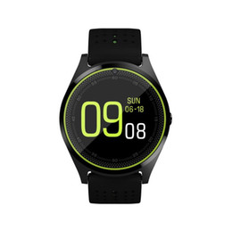 Bluetooth Smart Watch Sim Australia - wholesale New V9 1.22 inch color touch screen GPS Bluetooth waterproof support SIM   TF card heart rate blood pressure sports smart watch