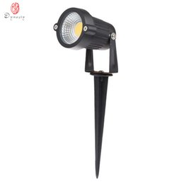 Vente en gros Lampe de pelouse LED 3W COB IP65 Projecteur étanche Spot Lights AC / DC Garden Path Étang Éclairage extérieur Paysage Dynastie Livraison Gratuite