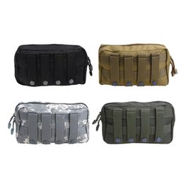 molle pouches accessory 2019 - Outdoor Military Tactical Waist Bag Multifunctional EDC Molle Tool 1000D Zipper Waist Pack Accessory Durable Belt Pouch