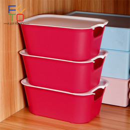 Red Modern Bedding NZ - 3 Pcs Clothes Storage Case With Lid Plastic Wardrobe Under the Bed Storage Box Home Bedroom Drawers Stackable Organizers Box