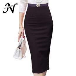 $enCountryForm.capitalKeyWord NZ - High Waist Pencil Skirt Plus Size Tight Bodycon Fashion Women Midi Skirt Red Black Slit Skirts Womens Fashion Jupe Femme S - 5xl MX190731