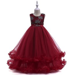 $enCountryForm.capitalKeyWord UK - New Arrival Spring Summer Girl Dresses High Quality Graduation Party Flower Children's Wedding Princess Dress Multilayer Skirt Free Shopping