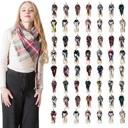 $enCountryForm.capitalKeyWord Australia - Women Designer Scarf Triangular Tartan Scarves Lattices Oversize Plaid Colorful Pashmina Shawl Wraps Ring Scarf Bandana