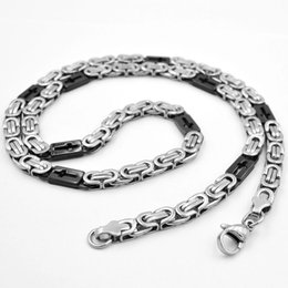 Mens Crosses Chains Australia - SUNNERLEES Fashion Jewelry Stainless Steel Necklace 6mm 8mm 11mm Silver Black Color Box Cross Byzantine Link Chain For Mens Womens SC46 N