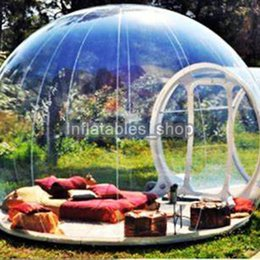 Wholesale Clear inflatable bubble tent with tunnel FOR SALE China manufacturer inflatable tents for trade shows inflatable garden tent