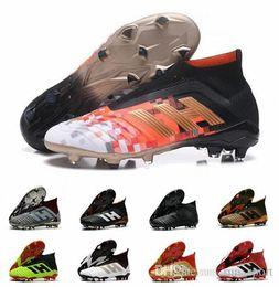 f9c254ceccc9 2019 дизайнер Predator 18 FG PP Paul Pogba футбольные бутсы Slip-On Chaussures  De футбольные бутсы мужские Predator 18 + High Top футбольные бутсы 39-45