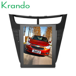 "Digital Stereo Systems Australia - Krando Android 7.1 10.4"" Vertical screen car DVD radio player multimedia system GPS for Chevrolet Sail navigation entertainment stereo"