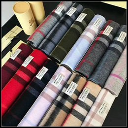 $enCountryForm.capitalKeyWord NZ - With Roll Tube Box Top Qualtiy fashion Brand 100% Cashmere Scarf For Women and Men Designer Large Check Scarves Pashmina Infinity Scarfs