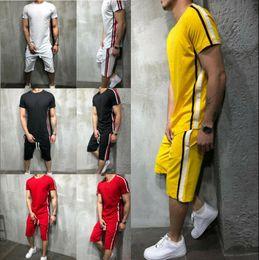 Wholesale men's short suit sets for sale – designer Summer Tracksuit Short Set Men s Shorts Fasion Casual Suits Sportswear Mens