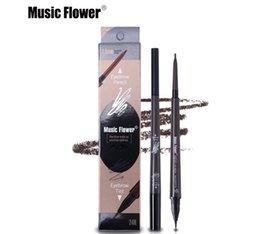 2019 neue Musik Blume Marke Augen Make-Up Matte Doppelkopf Augenbrauenstift + Flüssige Augenbrauen Tönung Waterpoof