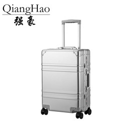 high quality luggage brands NZ - High quality 100% aluminium alloy spinner travel brand suitcase hand luggage trolley with wheel