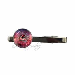 $enCountryForm.capitalKeyWord UK - Red Galaxy Nebula Tie Clips Eye Of Providence Tie Clip Masonic Sign Clip Third Eye Jewelry Glass Dome Art Necktie