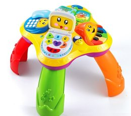 Phone Types Australia - [TOP] Cartoon Multi-function 4 in 1 book laptop phone piano Learning Musical Table desk baby Early education Growing toy gift