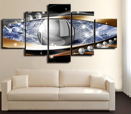 $enCountryForm.capitalKeyWord Australia - Abstract Art Earth Canvas Painting 5 Pieces Wall Modular Picture House Decoration Pop Gift (No Frame)