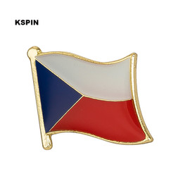 Groihandel Tschechische Rep. Flagge Revers Pin Flag Badge Revers Pins Abzeichen Brosche KS0087