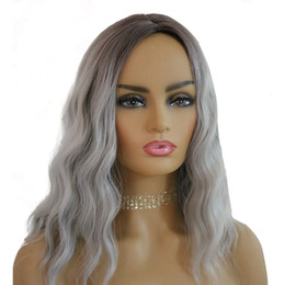 gray wigs for black women 2019 - Afo New Sexy Style long curly Gray wigs for black woman Free Shipping Mechanism High Temperature Wire Can Be Dyed Ladies