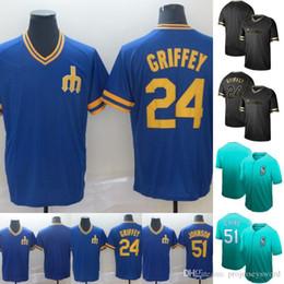 a310b8704 Mens Seattle Jersey 24 Ken Griffey Jr. 51 Ichiro Suzuki 100% Stitched  Mariners Baseball Jerseys Cheap Fast Shipping S-XXXL