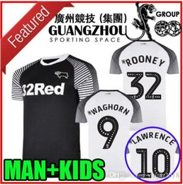 Rooney jeRsey online shopping - rooney Derby County soccer jerseys home away camisetas de fútbol MARRIOTT LAWRENCE WAGHORN man kids kit football shirts
