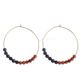 8a9d6f1cfe66e7 new Hoop Earrings With Colorful Glass Bead Circle Earring Simple Big Circle  Gold Color Ear For Women South Korea Style Jewelry