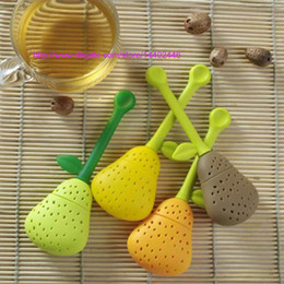 $enCountryForm.capitalKeyWord Australia - 500pcs New Silicone Pear Devise Tea Leaf Strainer Herb Spice Silicon Tea Infuser Teapot Cup Filter