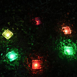 night garden party decorations NZ - Solar power operated simulation ice cube light LED brick night lamp garden plaza wedding party decoration lighting