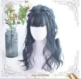 $enCountryForm.capitalKeyWord Australia - HOT Japan Dark Blue Harajuku Gothic Sweet Mermaid Princess Wig Dolly Lolita Kiyi