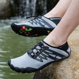 Beach Shoes 47 Australia - 2019 Water Shoes for Unisex Women Big Size 36-47 Mesh Breathable Swimming On-surf Yoga Light Weight Summer Beach Sport Shoes Men