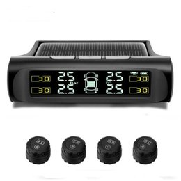Citroen Code reader online shopping - Wireless Car TPMS Tyre Pressure Monitoring System Solar Power Charging Digital LCD Display Auto Driving Security Alarm Systems