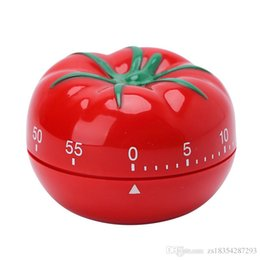 Wholesale 2018 New Creative Tomato Shape Cooking Timer Mechanical Countdown Timer Alarm Clock Gadgets Tools Chrismas Gifts kitchen accessories