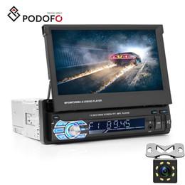 "$enCountryForm.capitalKeyWord Australia - Podofo Car DVD Audio Radio Bluetooth 1Din 7"" HD Retractable Touch Screen MP5 SD FM USB 8 IR LED Rear View Camera"