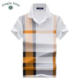 $enCountryForm.capitalKeyWord NZ - Thin Models Plaid Hit Color Print Men's Short-sleeved Lapel Polo Shirt Brand Men Polos Casual Poloshirts Q190525