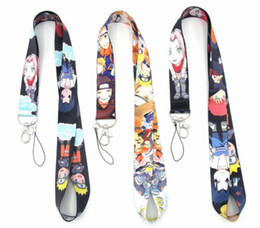 neck badge holders Australia - 20pcs Japanese anime cartoon naruto Key Lanyard Badge ID Cards Holders Neck Straps with Keyring Gifts Party Favors