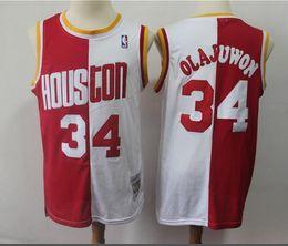 cf713494315 Hakeem Olajuwon Jersey Australia - Mitchell   Ness Hakeem 34 Olajuwon  Rockets 1996-97 Classics
