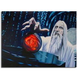 Printed Rings Australia - The Lord Of The Rings Gandalf Canvas Prints Picture Modular Paintings For Living Room Poster On The Wall Office Room Decor