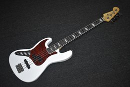 $enCountryForm.capitalKeyWord Australia - Factory custom white left hand 4 string electric bass, red tortoise shell, rosewood square inlaid fingerboard, can be customized