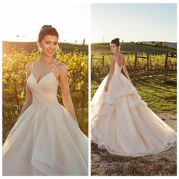 Organza Vintage Dress Australia - vestido de novia Ball Gown Princess Wedding Dresses Spaghetti Sleeveless Sweep Train Organza Vintage Plus Size Bridal Gowns robe de mariee