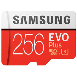Toptan satış 1 adet 32 GB / 64 GB / 128 GB / 256 GB Samsung EVO + Artı mikro SD kart U3 / akıllı kart TF C10 / tablet PC SDXC depolama kartı 95 MB / S