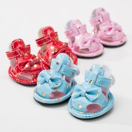 dacd8907e340a3 New Arrivals Pet Dog Shoes Summer PU Bows Dog Shoes For Chihuahua Yorkshire  Pink Blue Red Princess Puppy Cats Pugs Products