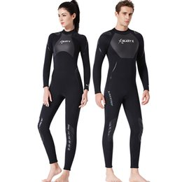 $enCountryForm.capitalKeyWord Australia - New Fashion Diving Suit Male 3MM All-in-one Snorkeling Surf Suit Female Thickened Winter Bathing Long Sleeve Jellyfish Suit SCR