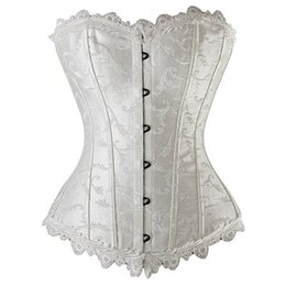 11fecea8626 Women Corsets Sexy Black Gothic Underwear White Vintage Solid Lace Up Female  Fashion Summer 2019 Hot Sale Bustiers Intimates